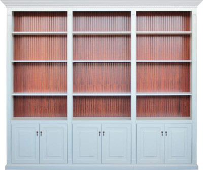 Wall Unit with Grooved veneer Back