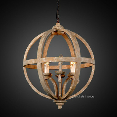 French Farmhouse Orb Chandelier