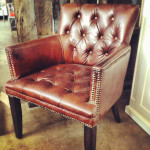 Memphis Aged Leather Armchair