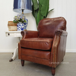 Kennedy Aged Leather Armchair