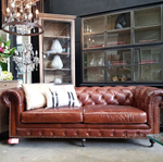 Lincoln Aged Leather Chesterfield