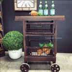 Tutti Frutti Industrial Island Workbench / Cart