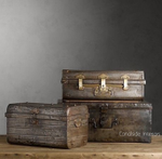 Industrial Trunks / Suitcases Image via www.pinterest.com/canalsideint contact for details
