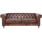 Pasadena Chesterfield 3-Seater Aged Leather Sofa