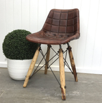Fimmel Square Stitch Aged Leather Chair