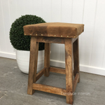 Bighetti Leather Stool