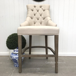 Dashwood Upholstered Buttoned Back Bar Stool