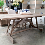 Talbot Dining Table with Herringbone Top