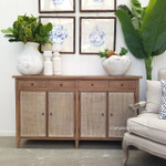 Hayes Plantation Sideboard with Rattan Doors