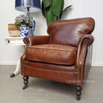 Newport Aged Leather Armchair