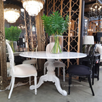 Amelie Carrara Marble Round Dining Table
