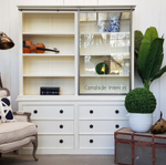 Pemberley Sliding Door Display Wall Unit