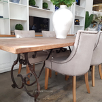 Alexandra Dining Table with Reclaimed Elm Top