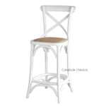 Cross Back Kitchen Stool