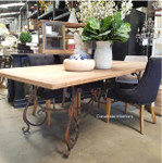 Peralta Dining Table with Reclaimed Elm Top