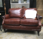 Newport Aged Leather 2-Seater Lounge