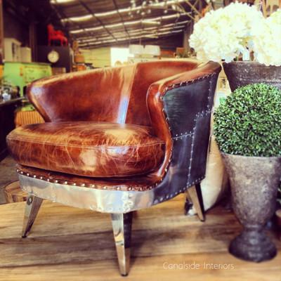 Vault Aged Leather Armchair