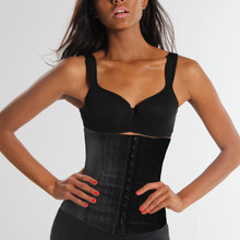 View Cart Redefine your Waistline! While wearing this reshaper, your waist size can be reduced up to 2 sizes as the corset straightens your torso and back for great posture instantly. Three rows of hooks allow you to adjust the corset to your comfort level to enable a continuous refinement of your figure. On each side, it incorporates a flexible rod that goes below bust to the pelvis.  OUR RESHAPING SOLUTION WHEN WORN Reduces waist up to 2 sizes Targets back, torso, waist and abdomen areas Smooths and evens fatty areas for a more slender uniform appearance Strapless design for sexy wear