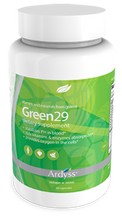 Green 29  The essential greens your body needs  Green 29 was designed to help in maintaining stabilized pH levels in blood. This proprietary blend is enriched with chlorophyll, anti-oxidants, and contains anti-inflammatory benefits. Also aids in vitamin & enzyme absorption, increases energy, improves digestion, promotes digestive health, sand supports natural resistance.  Our Everyday Health Benefits:  • Antioxidant. • Aids vitamins & enzymes absorption. • Increases energy. • Improves digestion & Promotes digestive health. • Supports natural resistance. *These statements have not been evaluated by the US Food and Drug Administration. This product is not intended to diagnose, treat, mitigate, cure or prevent any disease.