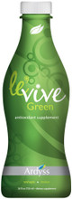 LE'VIVE GREEN  Your Everyday Detox Solution  Le'Vive Green juice assists the body with nutrients that help re-energize, detoxify, and revitalize. This proprietary blend provides high concentrations of antioxidants extracted from the world's top herbs and vegetables like Aloe Vera, Alfalfa, Artichoke, Milk Thistle, Senna, and Ginger.  Our Everyday Health Benefits:  • Antioxidant enriched. • Promotes cleansing of the digestive tract. • Contributes to liver, kidney and heart health. • Cardio protective properties. *These statements have not been evaluated by the US Food and Drug Administration. This product is not intended to diagnose, treat, mitigate, cure or prevent any disease.  PRECAUTIONS: This product contains Senna extract. Do not use if you have or develop diarrhea, loose stools, or abdominal pain. Consult your physician if you have frequent diarrhea, are pregnant, nursing, taking medication or have a medical condition.
