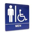 "8"" x 8"" Restroom Sign - ""MEN"" w/ISA, (4) Standard Colors"