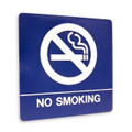 "8"" x 8"" Braille Sign - ""NO SMOKING"", (4) Standard Colors"