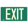 Photoluminescent Exit Sign; Green, Red or Black