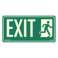 "6"" x 12"" Photoluminescent Mini Exit Sign"