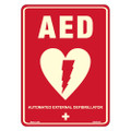 "10"" x 8"" Photoluminescent Defibrillator Sign"