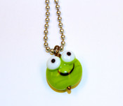 Glass Frog Necklace