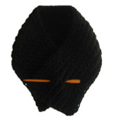 Black Cozy Neck Warmer