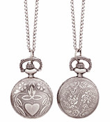 Mended Heart Pocket Watch Necklace - in 2 styles!
