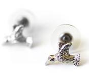 Dainty Hummingbird Stud Earrings