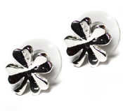 Tiny Four Leaf Clover Stud Earrings