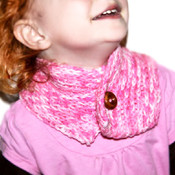 Kids Pink Handmade Neck Warmer