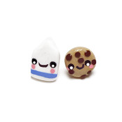 Cookies and Milk Stud Earrings
