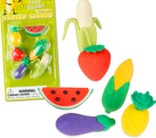 Fruits and Vegetables Eraser Set