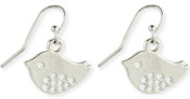 Silver Tiny Tweeting Bird Earrings