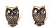 Tiny Owl Earring - Gold