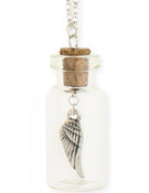 Wingcharm in a Bottle Necklace