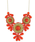 Orange Mini Medallion Bib Necklace