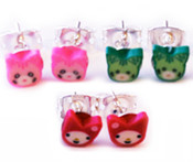 Come Kitty, Mini Kitty Earring Set - 3 Pairs Included!