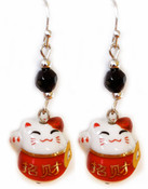 Lucky Cat Earrings - available in 3 different styles!