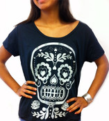 Sugar Skull Over-sized Dolman