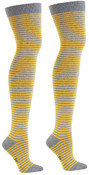 Over The Knee Mustard & Heather Socks