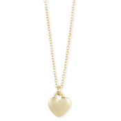 Gold Heart Charm Necklace