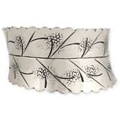 Engraved Leaves Cuff Bracelet
