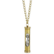 Gold Hourglass Necklace