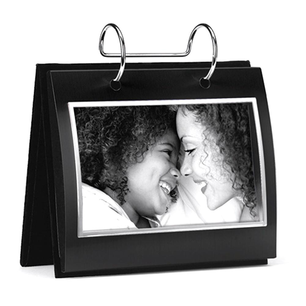 Modern Black Flip Photo Album Holds 36 Standard Sized 4x6 Photos