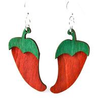 Green Tree Organic Renewable Natural Wood Earrings